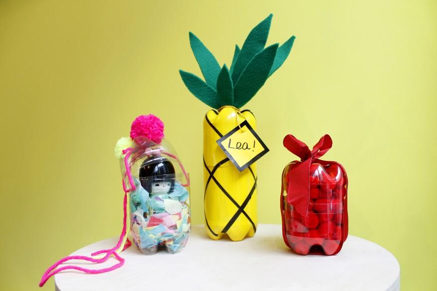 upcycling geschenkboxen aus plastikflaschen ortloff b robedarf k ln. Black Bedroom Furniture Sets. Home Design Ideas